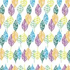 Multi-color Leaf pattern  by Didi Kasa