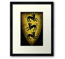 House Clegane Sigil from Game of Thrones Framed Print