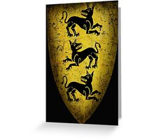 House Clegane Sigil from Game of Thrones Greeting Card