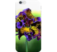 Shades of Frilly Pansy iPhone Case/Skin