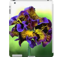 Shades of Frilly Pansy iPad Case/Skin
