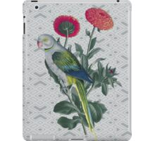 parrot and flower grey back iPad Case/Skin