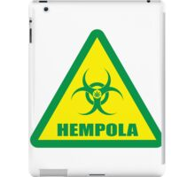 Caution Hempola iPad Case/Skin