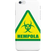 Caution Hempola iPhone Case/Skin