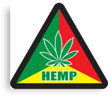 Caution Hemp Marijuana Sign Rastafarian Canvas Print