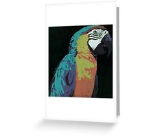 7 DAYS OF SUMMER-  PARROT LOVE PRINT Greeting Card