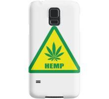 Caution Hemp Marijuana sign Samsung Galaxy Case/Skin