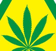 Caution Hemp Marijuana sign Sticker