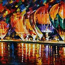 Balloon Park — Buy Now Link - www.etsy.com/listing/210165506 by Leonid  Afremov