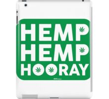Hemp Hemp Hooray White Green iPad Case/Skin