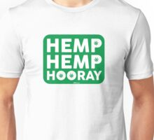 Hemp Hemp Hooray White Green Unisex T-Shirt