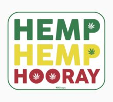 Hemp Hemp Hooray Rasta Rastafarian White by LGdesigns