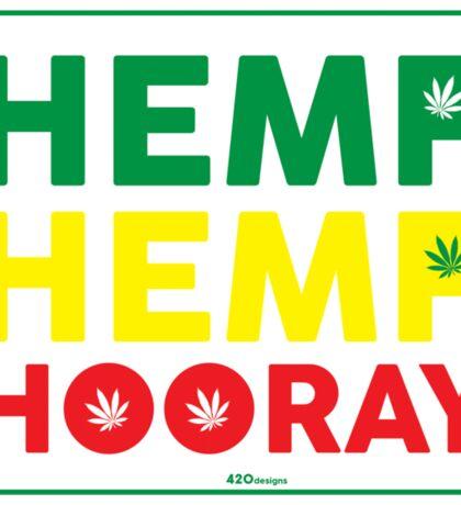 Hemp Hemp Hooray Rasta Rastafarian White Sticker