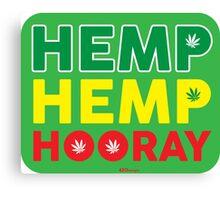 Hemp Hemp Hooray Rasta Rastafarian Green Canvas Print