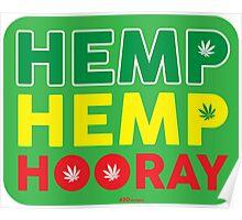 Hemp Hemp Hooray Rasta Rastafarian Green Poster