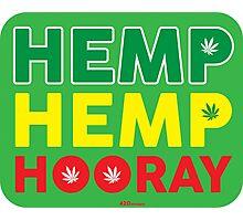 Hemp Hemp Hooray Rasta Rastafarian Green Photographic Print