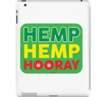 Hemp Hemp Hooray Rasta Rastafarian Green iPad Case/Skin