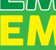 Hemp Hemp Hooray Rasta Rastafarian Green Sticker