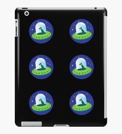 Alien spacecraft stickers iPad Case/Skin