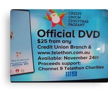 Adelaide Christmas Pageant 2014 ad DVD Canvas Print