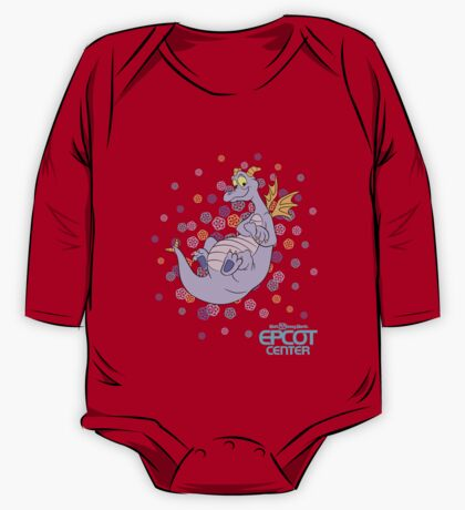 Navy Figment epcot confetti One Piece - Long Sleeve