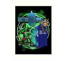 Doctor Moo and Clara -alt Art Print