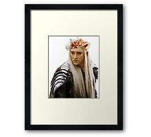 Flower Crown Thranduil Framed Print