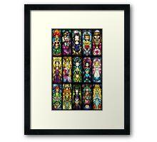 disney princesses Framed Print
