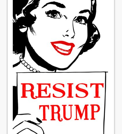 RESIST TRUMP Sticker