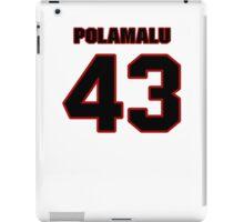 NFL Player Troy Polamalu fortythree 43 iPad Case/Skin