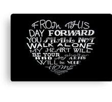 From this day forward - heart poem Canvas Print