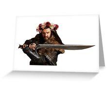 Flower Crown Thorin Greeting Card