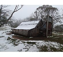 Wallace's Hut - Snow Photographic Print