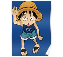 "ONE PIECE: ""Luffy Say Hello"" Kid Luffy Design Poster"