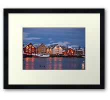 Tromso Waterfront at twilight Framed Print