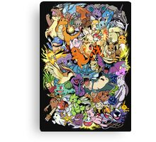 Gen I - Pokemaniacal Colour Canvas Print