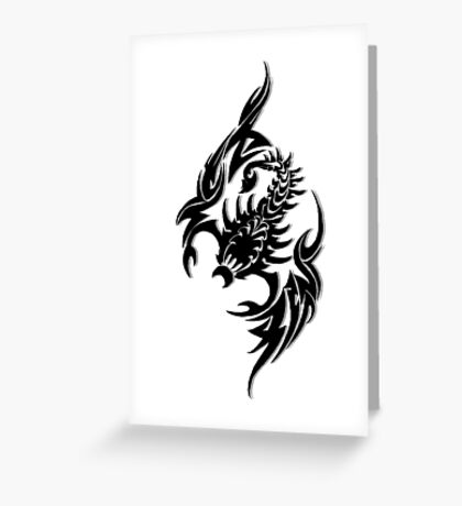 Pixel Scorpion Greeting Card