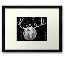 Deer Bust Framed Print
