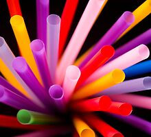 Colorful drinking straws by GemaIbarra