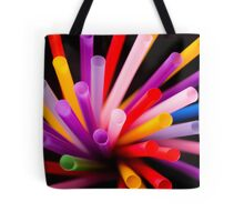 Colorful drinking straws Tote Bag