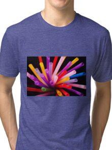 Colorful drinking straws Tri-blend T-Shirt