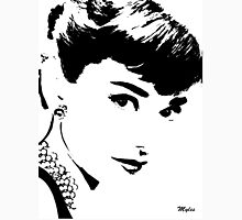 Audrey Simply Beautiful in Black and White Unisex T-Shirt