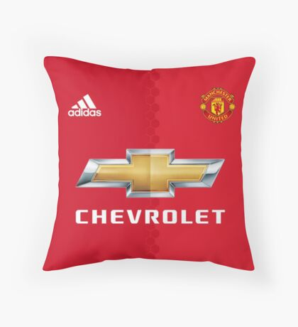Manchester United Chevrolet Throw Pillow