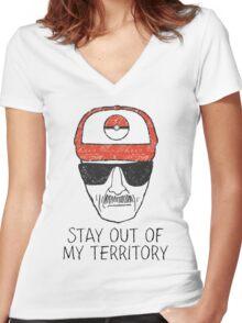 Pokemon Go Heisenberg Women's Fitted V-Neck T-Shirt