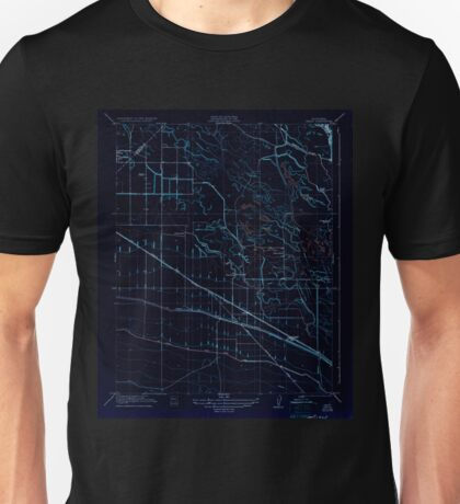 USGS TOPO Map California CA Oxalis 296389 1922 31680 geo Inverted Unisex T-Shirt