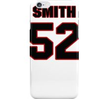 NFL Player D.J. Smith fiftytwo 52 iPhone Case/Skin