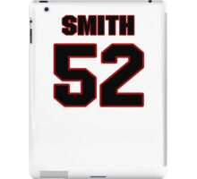 NFL Player D.J. Smith fiftytwo 52 iPad Case/Skin