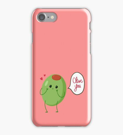 Olive you! #digistickie iPhone Case/Skin