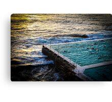 Bondi Swimmers Canvas Print