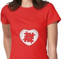 Puzzled Heart Womens Fitted T-Shirt